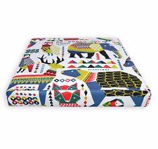 LL408t Green Blue White Black Mustard Red Cotton Canvas 3D Box Cushion Cover