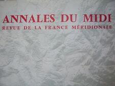 ANNALES DU MIDI 1975 No 122 VALLESPIR LOGE MACONNIQUE TOULOUSE REVOLUTION