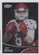 2013 SAGE Black #SP61 Tyler Wilson Rookie Football Card