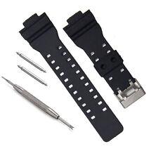 16mm Black Resin Watch Band Fits C asio G-Shock GA-110, GA-120, GA-300, GA-110C