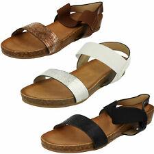 Ladies Savannah Slingback Low Wedge Heel Casual Summer Sandal F1R0877