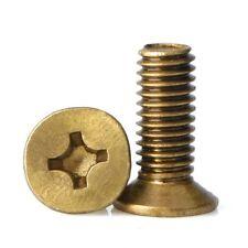M4/M5/M6 Metric Coarse Brass Countersunk Phillips Screws Machine Screws