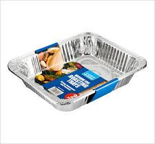 2 Pack Medium Aluminium Foil Roasting Tray Dish 323x265mm Oven Cook BBQ Buffet