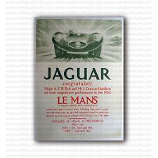 Jaguar Racing Grand Prix 1954 Vintage Repro Poster