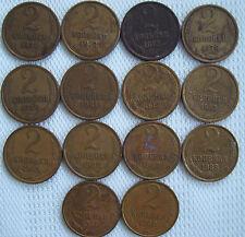 2 Kopeks USSR (CCCP) Russia Soviet Union Coin