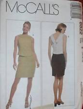 8822 Vintage McCalls SEWING Pattern Misses Mock 2 Pc Dress Jones NY UNCUT OOP FF