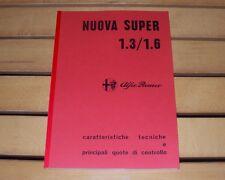 Alfa Romeo Giulia Nuova Super 1.3 - 1.6 Manuale officina workshop manual-