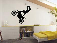 Motorbike Wall Sticker | Dirt Bike Wall Decal | Wall Stickers for Boys Bedroom