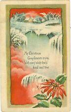Weihnachten, Weihnachtsstern, Winterlandschaft, 1916