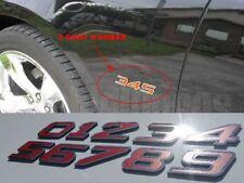 HORSEPOWER OR ENGINE SIZE EMBLEM NUMBERS EMBLEM BADGE W/ COLOR 0123456789 CUSTOM