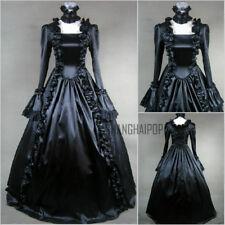 Women Lolita Victorian Gothic Dress Ruffle Steampunk Evening Vintage Costume New