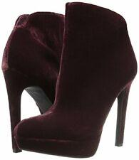 Jessica Simpson zamia Rouge Velvet High Heel Chic Platform Stiletto Heel Bootie
