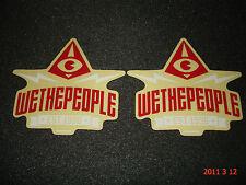 "2 WETHEPEOPLE BMX ""EST.1996"" BIKES STICKERS / DECALS #39 AUFKLEBER"