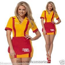 I57 2 Broke Girls Waitress TV Series Uniform Adult Fancy Dress Costume Outfit