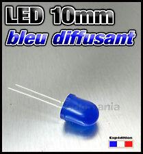 540-B# LED 10mm ronde diffusant bleu - 10 à 100 pcs blue LED diffused 10mm