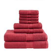 Luxury 8pc Red 800Gsm Long Staple Cotton Bath Towel Set