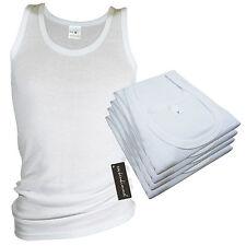 4x Herren Unterhemd Doppelripp Trägerhemd Vollachsel Singlet Baumwolle Gr.5 - 10