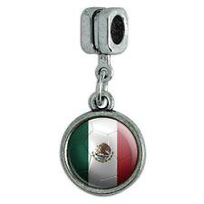 European Style Bracelet Charm Bead Soccer Futbol Football Country Flag I-Z