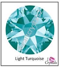LIGHT TURQUOISE Swarovski Flatback Rhinestones 5ss 7ss 9ss 12ss 16ss 20ss 1440