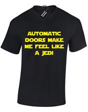Le porte automatiche, come un Jedi da uomo T Shirt Divertente Star Wars Storm Trooper Design