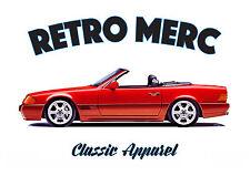 MERCEDES SL R129 t-shirt. RETRO MERC. CLASSIC CAR. MODIFIED. GERMAN. AMG.