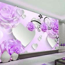 Bright Purple Design 3D Full Wall Mural Photo Wallpaper Printing Home Kids Decor
