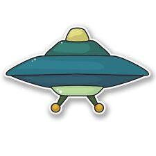 2 x UFO Alien Vinyl Sticker Laptop Travel Luggage Car #5451