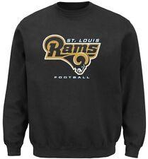 St Louis Rams NFL Men's Critical Victory Crewneck Sweatshirt Big & Tall Sizes