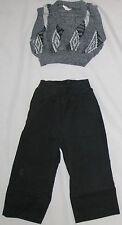 Gray White Size 18 MO Sweater Vest & Cotton Pants 2 Piece