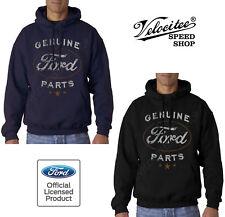 Velocitee Speed Shop Mens Hoodie Licensed Genuine Ford Parts Logo A21281