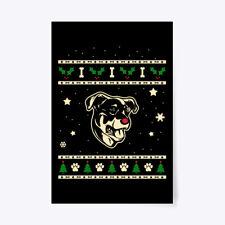 """Christmas Beauceron Dog Gift Poster - 24""""x36"""""""