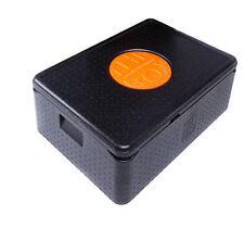 EPP Thermo Box Abm 68,5 x 48,5 x 26,5 cm Thermobox Kühlbox Isolierbox SCHWARZ