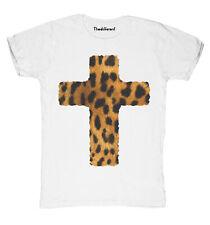 Nuevo camiseta Fuego Hombre Cruzar Leopardo Idea De Regalo