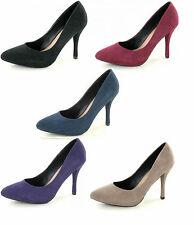 Donna Spot On Nero/viola scarpe décolleté da infilare UK taglie 3-8 F9672