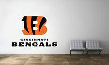 Cincinnati Bengals Logo Wall Decal NFL Football Decor Sport Vinyl Art Mural Stic