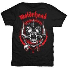 Motorhead t shirt lightning wreath overkill licence officielle hommes noir lemmy
