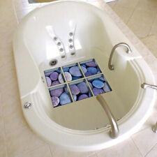 6Pcs Non Slip 3D Bathtub Stickers Tub Shower Tattoos Decals Waterproof Anti-slip