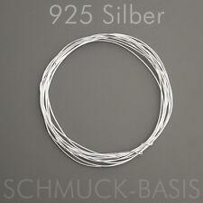 1 m Silberdraht (echt); 925 Silber; Strickdraht 0,25 mm