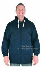 Big Mens Navy Big Tee Shirt Zip-Up Hoodie Sizes 2XL 3XL 4XL 5XL 6XL 7XL 8XL