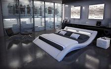Designer Bett Komplettbett MASSA + Beleuchtung + 7 Zonen Matratze + Lattenrost