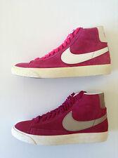 Genuino Nike WMNS / Donna Blazer Mid Vintage-UK 4-Camoscio-Rosa, Lampone