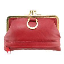 Genuine Leather Mini Purse Women's Coin Change Wallet Case Bag 12*8.5*1.3cm