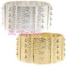 Textured Aztec Roman Cleopatra Pharaoh Egyptian Tribal Slave Wide Bangle Cuff
