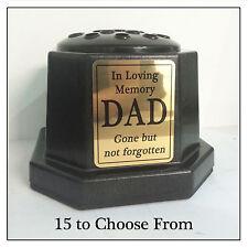 Vase noir MEMORIAL-personnalisé pot de fleurs & gold plaque tombeau familial Pierre