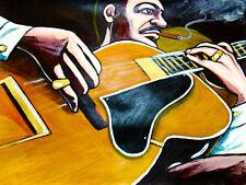 JOE PASS PRINT poster jazz gibson archtop meditation solo guitar cd cigar cohiba