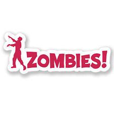 2 X Zombie advertencia pegatina Walking Dead coche divertido Bicicleta Ipad Laptop calcomanía # 4102