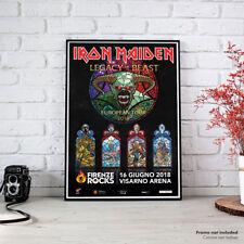 Iron Maiden | Firenze Rocks Giugno 2018 - Fine Art Poster Manifesto Locandina