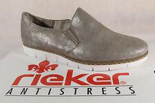 RIEKER Mocassins femme escarpins chaussures basses BALLERINE BRONZE, M1354 NEUF