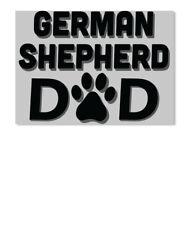 German Shepherd Dad W/paw Sticker - Landscape