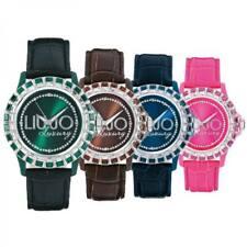 Orologio Donna LIU JO Luxury BAGUETTE Vera Pelle Swarovski 10 Colori Lady DD